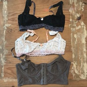 free people bralettes (lot of 3)
